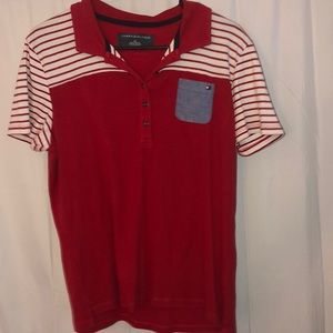 Women's Red Tommy Hilfiger Polo